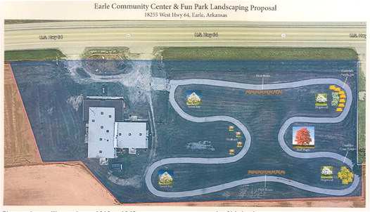 Earle community park plans include donated landscaping