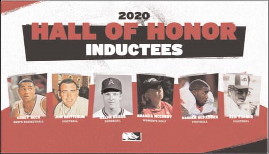 Six Razorbacks named to 2020 UA Sports Hall Of Honor Class